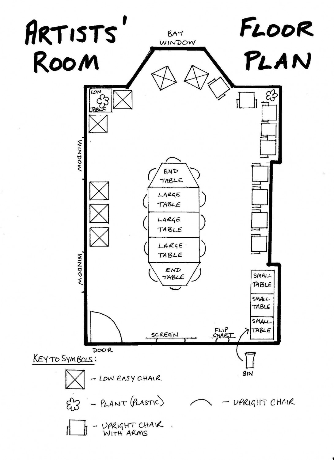 Floor Plan - Artists' Room